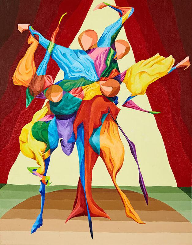 """Flamenco Dancer """"Beating"""" the Boards - Semi Abstract Painting using Acrylic on Canvas"""
