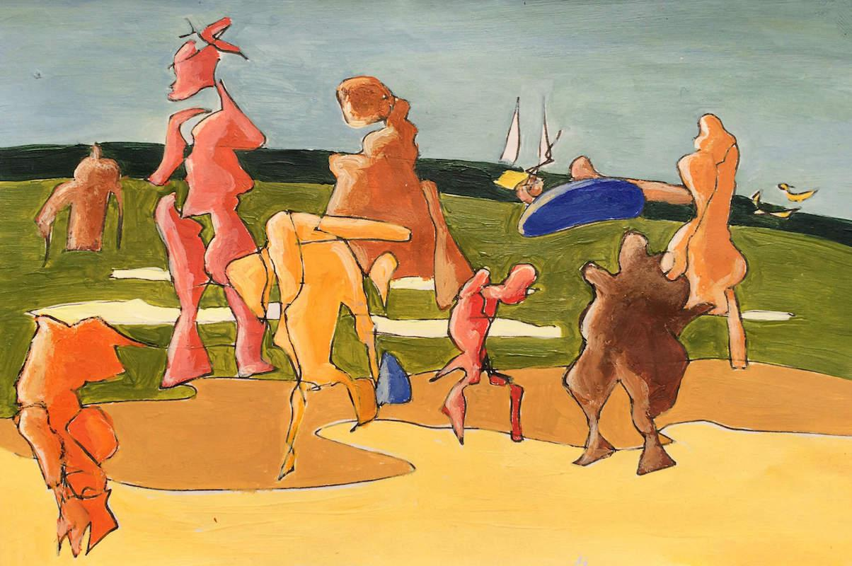 Sketch: Saccadic Figures - Baltic Beach 2
