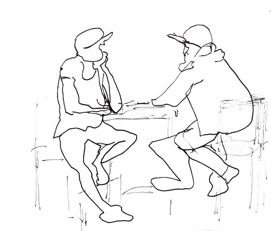 Figurative Sketch: Customers - The Ship, Gdynia