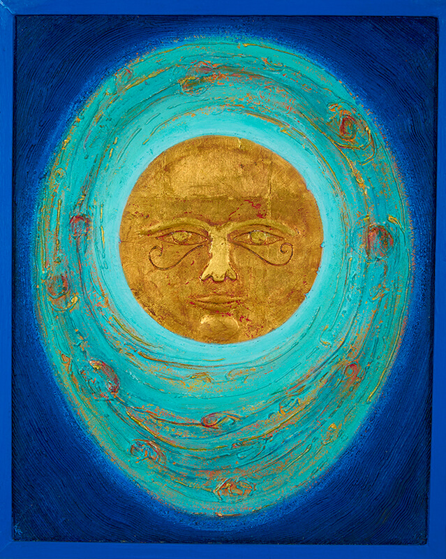Painting by Artist, Paul Rinne: The Point - Sun, 1986